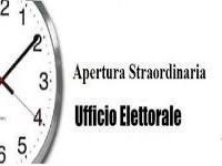 AVVISO - ORARI APERTURA STRAORDINARIA UFFICIO ELETTORALE